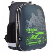 "Рюкзак школьный каркасный YES H-12 ""Street Racing"""