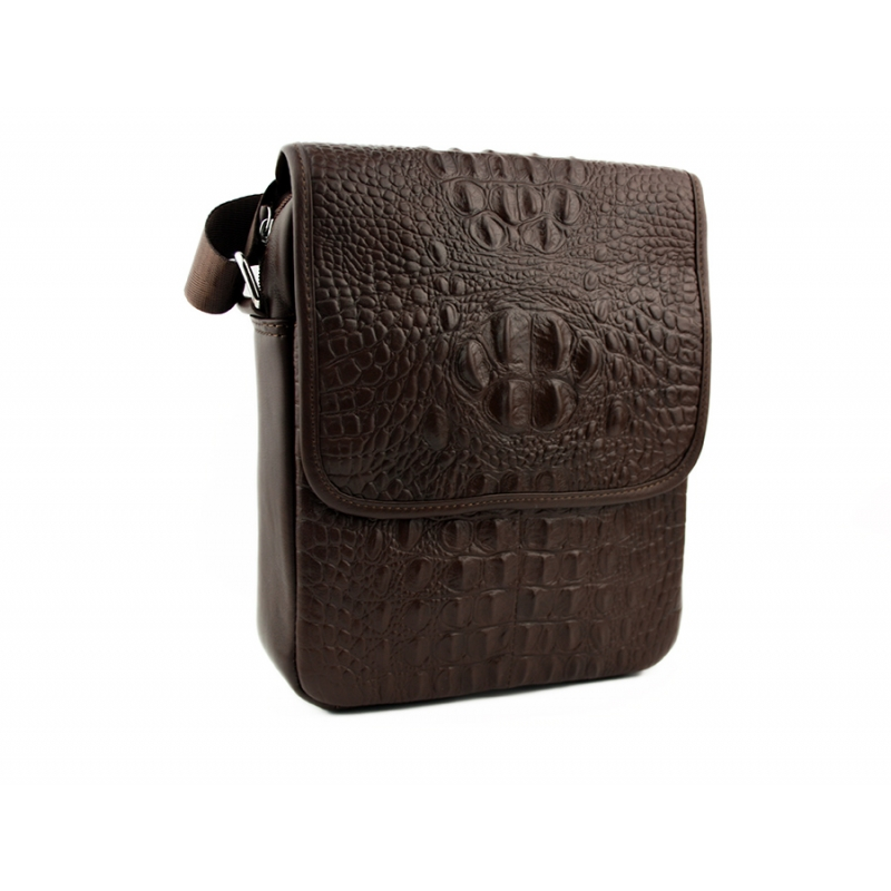 e8b350cc9b73 Мужская сумка через плечо из натуральной кожи с текстурой рептилии ...