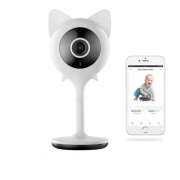Видеоняня BabySmile Kitty Mini (датчик движения, датчик плача, ночное видение, порт SD карты до 128Гб, HD 1080P*2MPX, двухсторонняя связь)