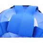 """Детская панорамная маска для дайвинга и снорклинга BabySmile Black and Blue (черно-голубая, панорама 180, клапан системы """"поплавок"""")"""