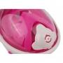 """Детская панорамная маска для дайвинга и снорклинга BabySmile White Girl (бело-розовая, панорама 180, клапан системы """"поплавок"""")"""