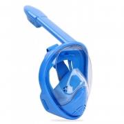 """Детская панорамная маска для дайвинга и снорклинга BabySmile (синяя, панорама 180, крепление для экшн камеры, трубка с клапаном системы """"поплавок"""", анти-запотевание стекла)"""