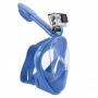 """Детская панорамная маска для дайвинга и снорклинга BabySmile (синяя, панорама 180, клапан системы """"поплавок"""")"""