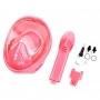 """Детская панорамная маска для дайвинга и снорклинга BabySmile (розовая, панорама 180, клапан системы """"поплавок"""")"""