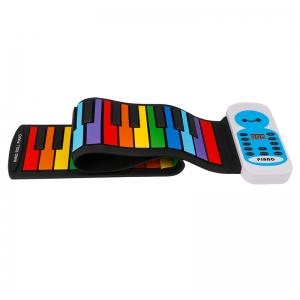 Гибкое пианино для детей BabySmile Music Rainbow MR49 (49 клавиш, 14 мелодий, генератор ритма и аккордов)