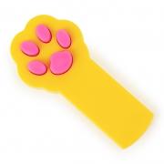 Игрушка для кошек светодиодная Лапка-лазер желтая (лазерная указка, питание 2 батарейки ААА)