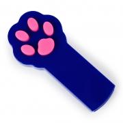Игрушка для кошек светодиодная Лапка-лазер синяя (лазерная указка, питание 2 батарейки ААА)