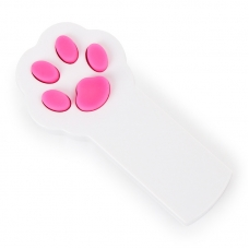 Игрушка для кошек светодиодная Лапка белая (лазерная указка, питание 2 батарейки ААА)