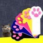 Игрушка для кошек светодиодная Лапка-лазер черная (лазерная указка, питание 2 батарейки ААА)
