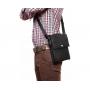 Повседневная кожаная мужская сумка на плечевом ремне и на магните