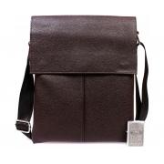 Мужская сумка через плечо коричневая средняя