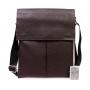 Мужская сумка через плечо коричневая средняя подобрать