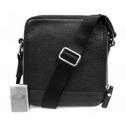 Кожаная сумка планшет с плечевым ремнем