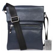 Синяя сумка через плечо для мелочей