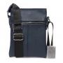 Синяя кожаная сумка через плечо для документов водителя выбрать