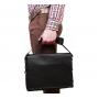 Деловая кожаная сумка под документы А4 и ноутбук