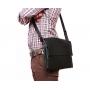 Деловая кожаная сумка на каждый день для ноутбука и документов А4 купить