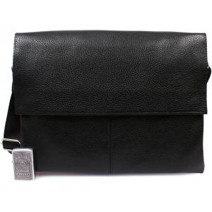 Деловая кожаная сумка на каждый день для ноутбука и документов А4