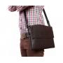 Элитная кожаная деловая сумка под ноутбук и документы формата А4