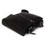 Мужская кожаная сумка через плечо с металической молнией черная выбрать