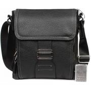 Стильная мужская кожаная сумка небольшого размера формата А5 CasualStyle SM-4426 черная