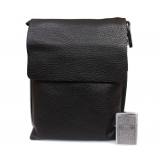 Кожаная сумка планшет через плечо