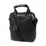 Черная деловая кожаная сумка под документы А4 с отделением для планшета заказать