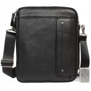 Многофункциональная кожаная мужская сумка с отделением для планшета