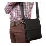 Элегантная мужская кожаная сумка с клапаном и наплечным ремнем выбрать
