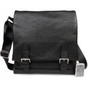 Элегантная мужская сумка A4 из натуральной кожи с двумя магнитами на клапане