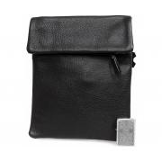 Мужская кожаная сумка формата А5 с плечевым ремнем