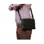 Мужская кожаная сумка горизонтального типа с клапаном