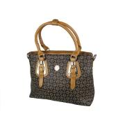Ретро сумка шоколадно-коричневого цвета