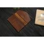 Женский кожаный кошелек ручной работы VOILE vl-lw2w-lbrn-brn