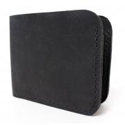 Мужской кожаный бумажник ручной работы VOILE vl-mw2-blk