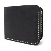 Мужской кожаный бумажник ручной работы VOILE vl-mw2-blk-beg