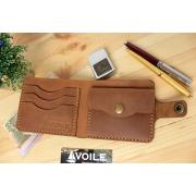 Мужской кожаный кошелек ручной работы VOILE vl-cw1-lbrn-tbc