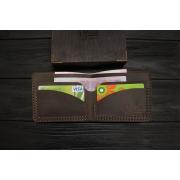 Мужской кожаный бумажник ручной работы VOILE vl-mw2-brn коричневый