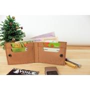 Мужской кожаный бумажник ручной работы VOILE vl-mw4-ryz-tbc