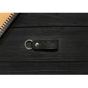 Брелок для ключей черный ручной работы VOILE vl-kch1-kblk