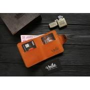 Мужской кожаный бумажник ручной работы VOILE vl-mw8-kgin-tbc