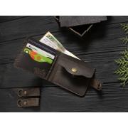 Мужской кожаный кошелек ручной работы VOILE vl-cw1-brn коричневый