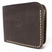 Мужской кожаный бумажник ручной работы VOILE vl-mw2-brn-beg