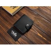 Мужской кожаный бумажник ручной работы VOILE vl-mw8-kblk