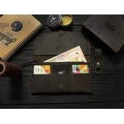 Женский кожаный кошелек ручной работы VOILE vl-lw2w-brn