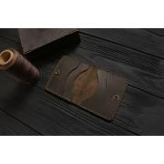 Мужской кожаный бумажник ручной работы VOILE vl-mw3-brn