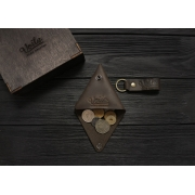 Монетница ручной работы VOILE vl-cn1-brn коричневая