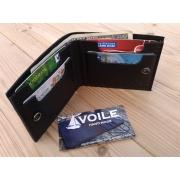 Мужской кожаный бумажник ручной работы VOILE vl-mw4-blk